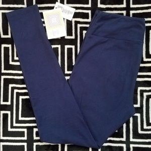 NEW PRINT LLR TC Leggings Solid Navy Blue